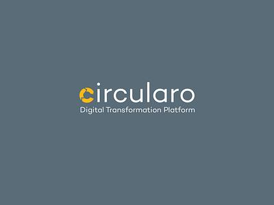 Circularo Logotype hidden message logotype logo yellow circle circulation