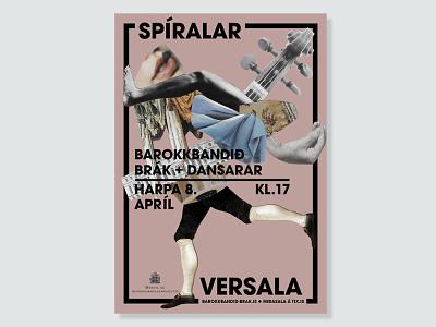 Baroque Concert Poster typography poster design art direction graphic design border clipart invite music concert baroque