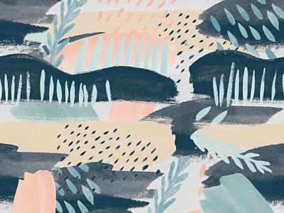 Pattern #1 design raindrops organic feminine pastel graphic design drops watercolor pattern