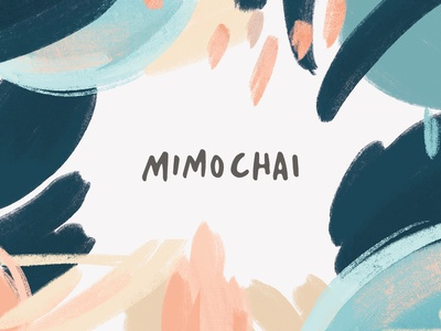 Mimochai Graphics pastel graphicdesign brushstrokes illustration logo charcoal watercolor pattern branding