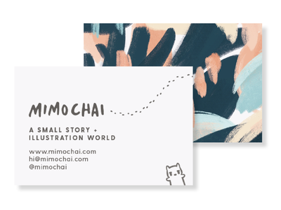Business Card pastel google fonts poppins kawaii watercolor pattern illustration branding graphicdesign busiensscard