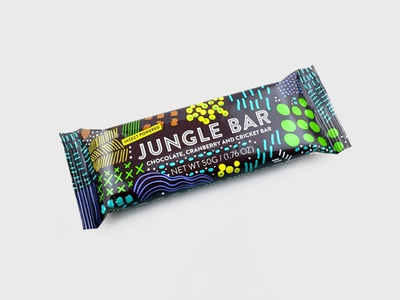 Jungle Bar Packaging food and beverage food sustainability insects african jungle pattern package design junglebar packaging
