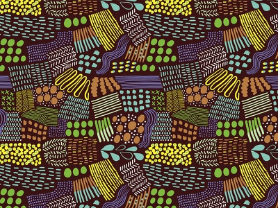 Pattern graphic design branding organic brown colorful african chocolate food and beverage handdrawn pattern