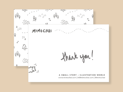 Greeting card japanese minimal character illustration simple pattern graphic design greeting card