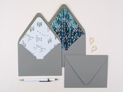 Mimochai Envelope organic pastel design graphic design brand development stationary cute japaneese floral line drawing envelope brand pattern pattern brand desing