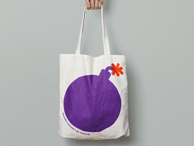 Festival Totebag illustrator identity graphic design illustration boom purple branding totebag festival