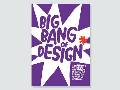 Design Festival Poster handlettering organic typography illustration graphic design branding handdrawn purple blast bomb poster festival