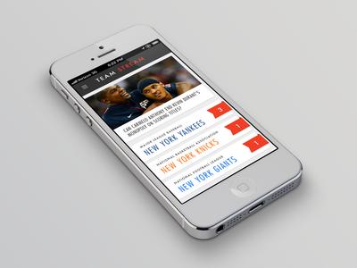 Team Stream App Concept