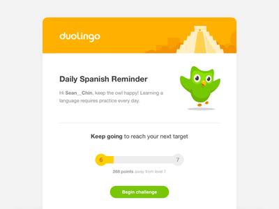 Duolingo Email Reminders