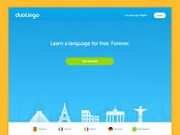 Duolingo Splash Page