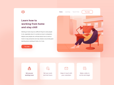 Landing Page - Working from Home