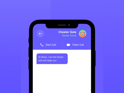 Micro Interaction Self Isolation App user interface isolation covid motion micro interaction interaction ux bright color illustration vector clean design motion graphics animation ui
