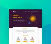 UI for Landing Page Galaxy Bima Sakti