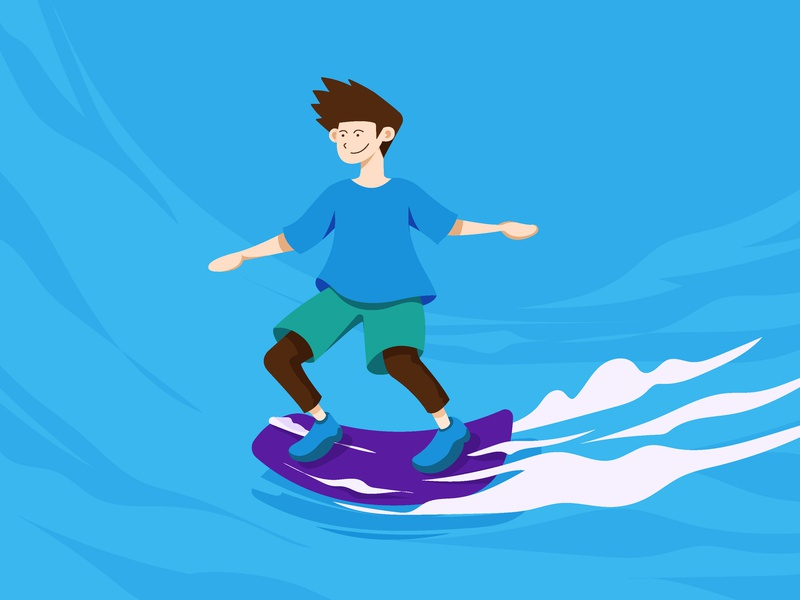 Hover Board character fast street smoke vector flat design minimalist sport fun skate hover board hover illustration