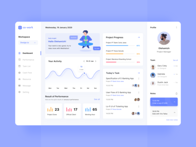 Dashboard - Project Management
