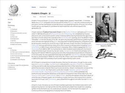 Wikipedia Article Redesign app minimal clean web concept redesign website ux ui design article design wiki wikipedia