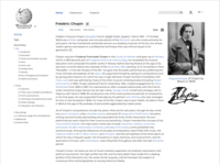 Wikipedia Article Redesign