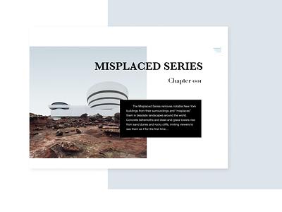 Typography Misplaced Series typography minimalist black  white landscape simple web website ui minimal design concept clean
