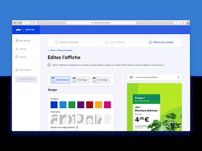 Côté Nature -POS tool Edition mode sidebar progress tracker input forms figma point of sale advertising print web design uiux ui
