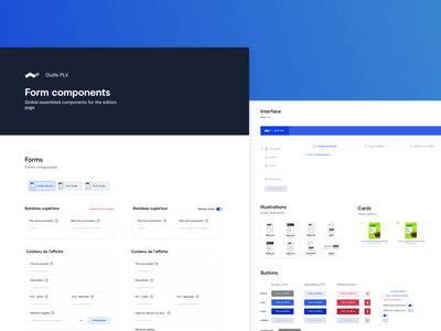 Côté Nature - POS tool style guide stepper cards buttons inputs forms components styleguide figma webdesign ui  ux ux ui
