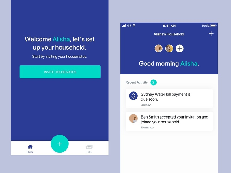 Home Screen House Sharing App By Alisha Allport Dribbble Dribbble