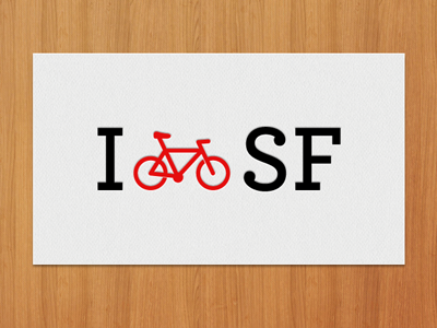 I (bike) SF sf bike bicycle love san francisco