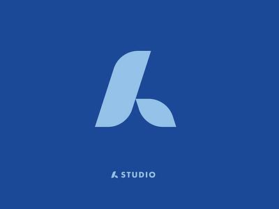 A STUDIO typography type blue redesing adobeillustrator vector branding brand design logotype design logotype logo