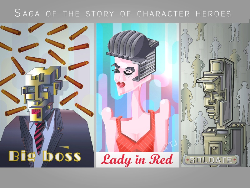 Saga of the story of character heroes.