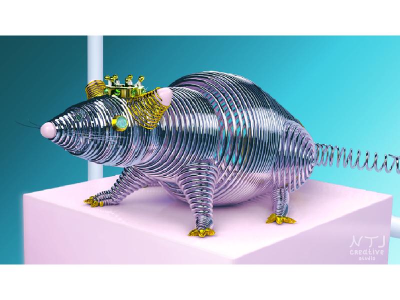 "concept  ""Two thousand and twentieth"" 2️⃣0️⃣2️⃣0️⃣ ratcharacter photocreative decorationstyle 3dform"