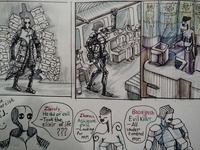 "mini comic. ""The story about the team of villians."""