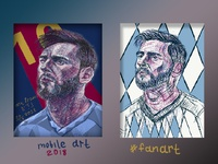 """#fanart  """"Messi"""""""