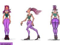 Design sketching character