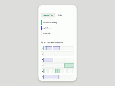 Mobile Stacking Plan Interaction interaction stacking plan ux ui