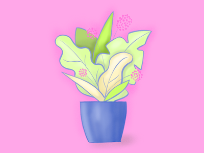 Still life 💕 design art digitalart digital textures brushes bright herbs flowers vase procreate