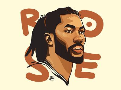 Derrick Rose - The Renaissance rose derrick rose nba design print editorial illustration sport poster art wacom cintiq vector illustration illu