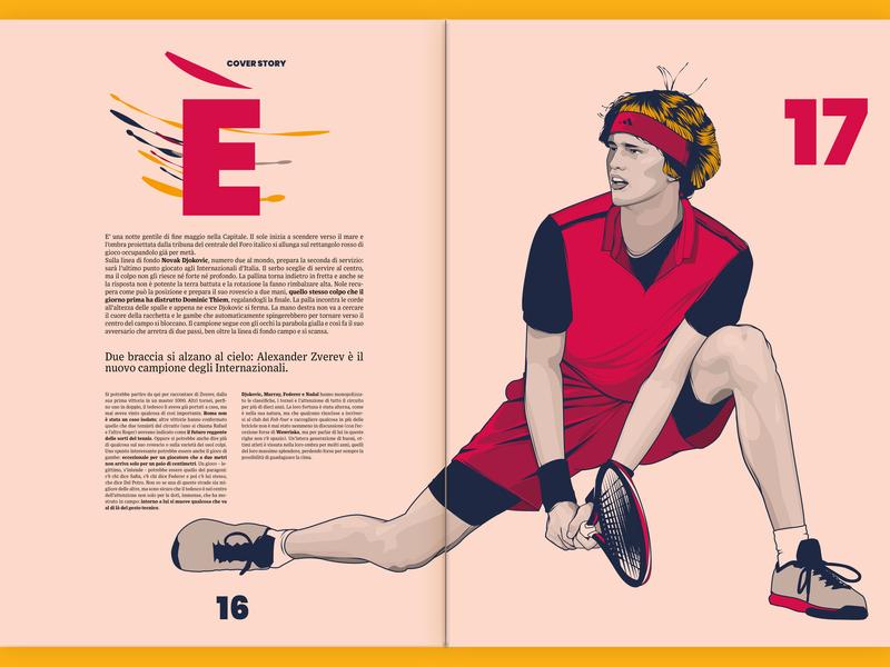 Sport Tribune Illustrations #3 - Cover story illustrations vector tennis sport magazine illustration editorial illustration wacom cintiq illustration