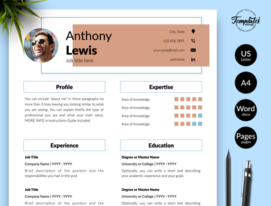 "Creative Resume for Word & Pages ""Anthony Lewis"" resume for word cv template modern resume resume template best resume template creative resume draughtsman resume modern resume design three page resume two page resume one page resume technical resume engineering cv professional resume resume template word engineer resume architect resume"