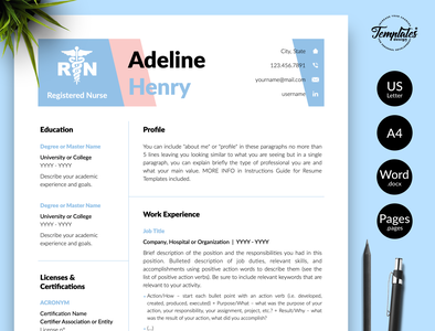 Templates Design Co Projects Nurse Resume Templates Dribbble