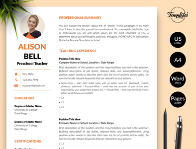 "Teacher Resume for Word and Pages ""Alison Bell"" teacher resume design resume template best cv for teacher best resume for teacher perfect teacher cv perfect teacher resume teacher cv sample teacher cv format teacher cv example teacher resume sample teacher resume format teacher resume example teacher resume word teacher cv word cv for teacher resume for teacher word teacher cv word teacher resume teacher cv teacher resume"
