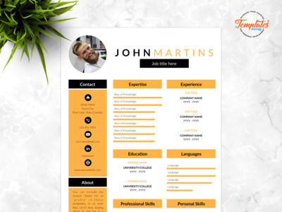 "Resume Template For Word And Pages ""John Martins"""