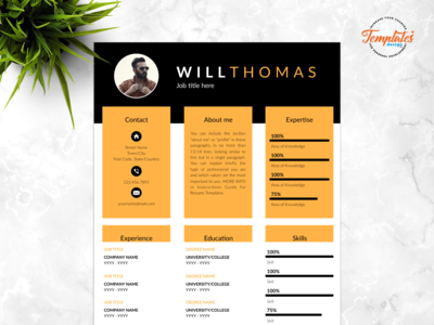 "Resume Template For Word And Pages ""Will Thomas"""