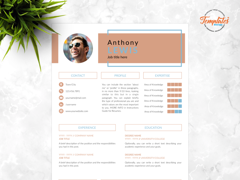 "Resume Template For Word And Pages ""Anthony Lewis"" best resume 2019 creative resume draughtsman resume modern resume design three page resume two page resume one page resume technical resume engineering cv professional resume resume template word engineer resume architect resume"