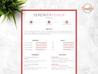 """Resume Template For Word And Pages """"Serenity Fisher"""""""