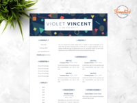 """Resume Template For Word And Pages """"Violet Vincent"""""""