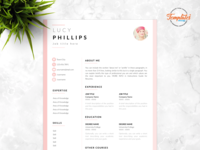 """Resume Template For Word And Pages """"Lucy Phillips"""""""