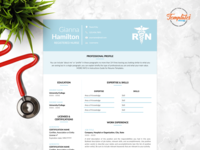 "Resume Template For Word And Pages ""Gianna Hamilton"""