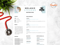 "Resume Template For Word And Pages ""Melanie Stevens"""