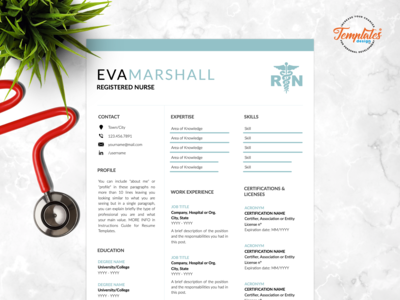 "Resume Template For Word And Pages ""Eva Marshall"""
