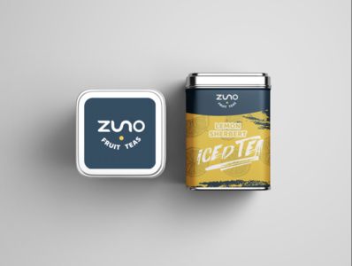 Zuno Fruit Tea graphic design package design product design food and drink tea mockup minimal icon vector typography logo flat design branding