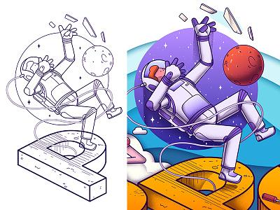 Dspot Mural - Part 1 artwork series graphic mural character moon art illustration fullcolor color creativity design draw vector illustrator